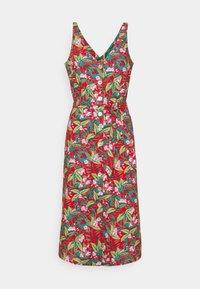 King Louie - INES V NECK DRESS SALINA - Maxi dress - red - 0