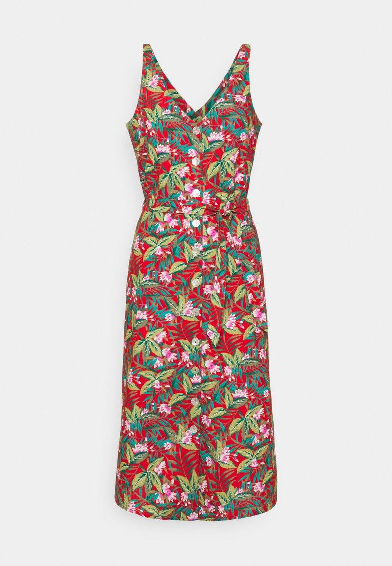 King Louie - INES V NECK DRESS SALINA - Maxi dress - red