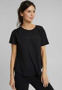 Esprit Sports - MIT LOGO-PRINT - Print T-shirt - black - 0
