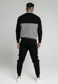 SIKSILK - CUT AND SEW CREW - Sweatshirt - black/grey marl - 2