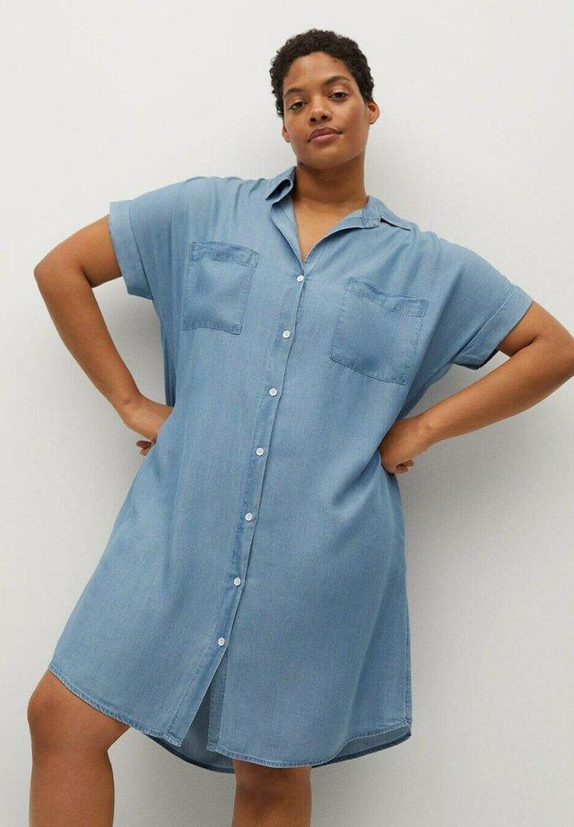 UVA - Denimové šaty - mittelblau