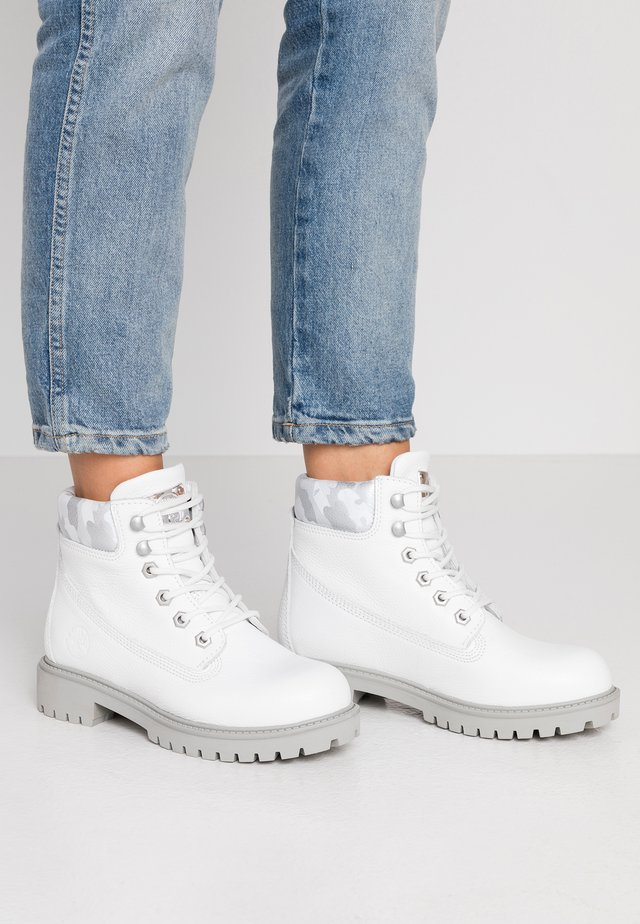 Ankelboots - white/grey/army