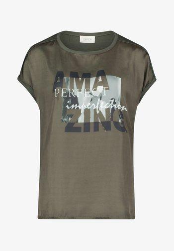 Print T-shirt - khaki/grey