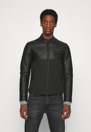 TOP MAN - Leather jacket - black