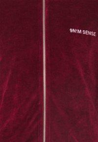 9N1M SENSE - TRACK JACKET UNISEX - Felpa con zip - darkred - 2