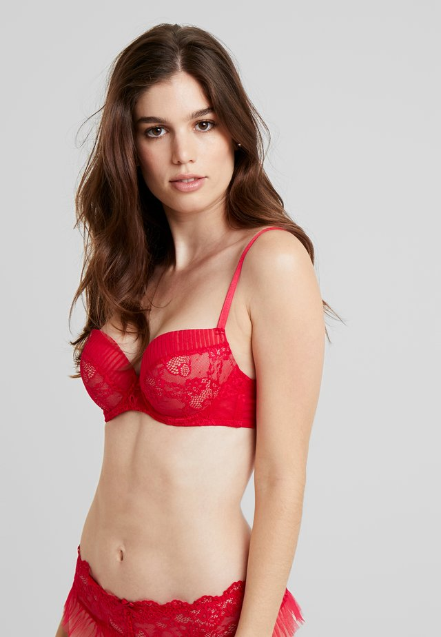 PLISSEE BRA - Push-up bra - red
