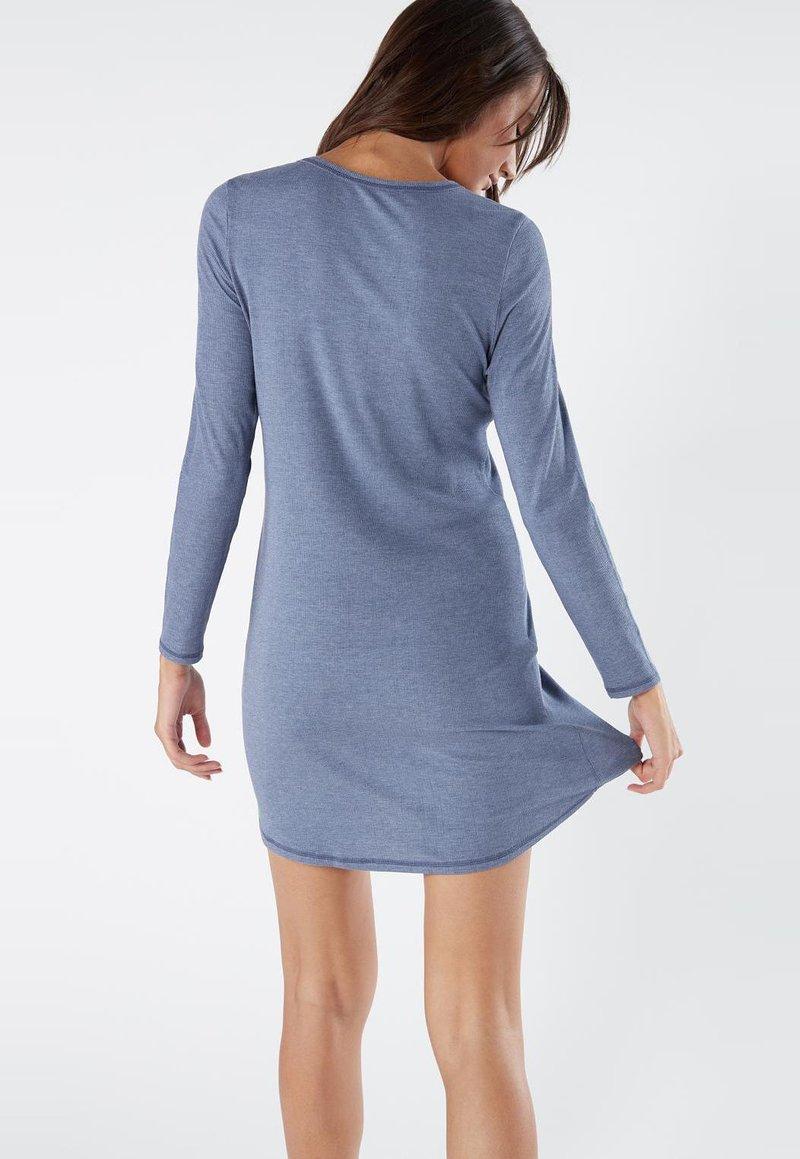 Intimissimi Geripptes Nachthemd Aus Modal Camicia Da Notte Soft Avio Mel Blu Zalando