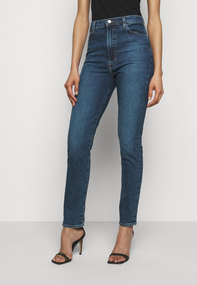 RUNWAY HIGH RISE SLIM STRAIGHT - Jean droit - pacific