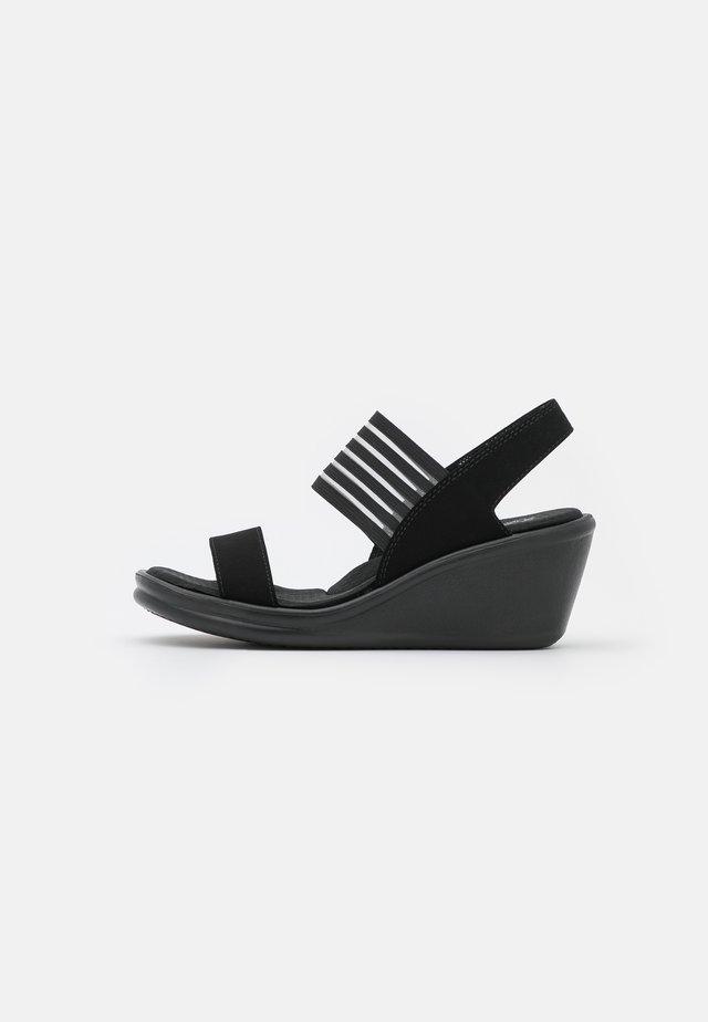 RUMBLERS - Wedge sandals - black