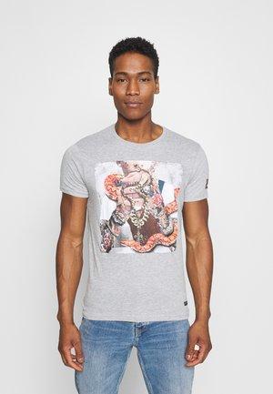 MAHONEY - Print T-shirt - light grey marl