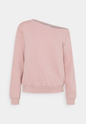 LOOSE OFF SHOULDER SWEATSHIRT  - Sweatshirt - pink