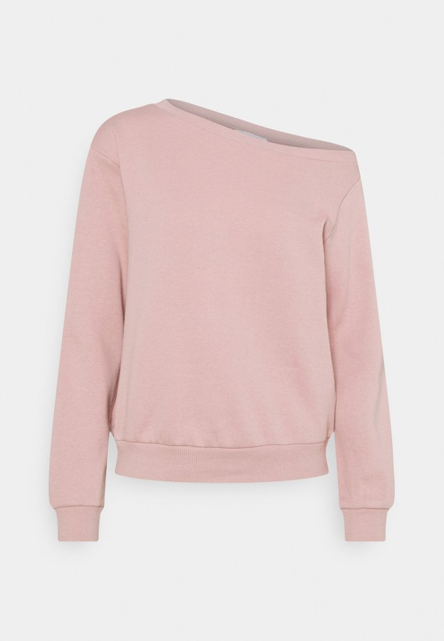 LOOSE OFF SHOULDER SWEATSHIRT  - Sweater - pink