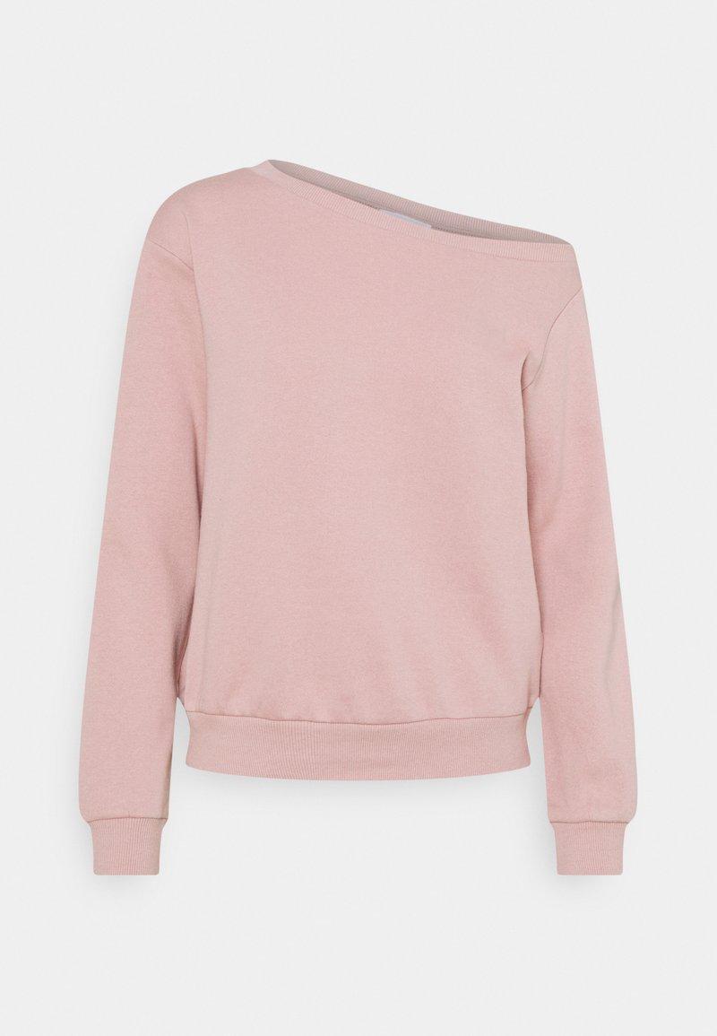 Even&Odd - LOOSE OFF SHOULDER SWEATSHIRT  - Sweatshirt - pink
