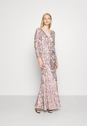 STRETCH SEQUIN GOWN - Occasion wear - smoky rose