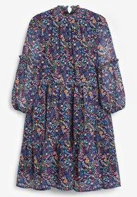 Next - FLORAL TIERED CHIFFON - Robe d'été - blue - 1