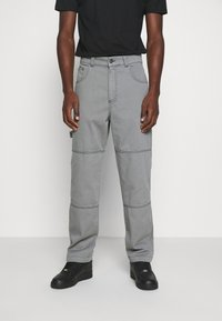 Kickers Classics - DRILL TROUSERS WITH TOPSTITCH - Pantaloni - monument - 0