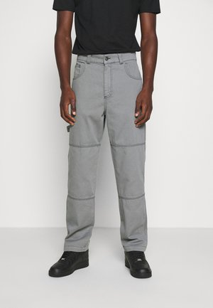 DRILL TROUSERS WITH TOPSTITCH - Tygbyxor - monument