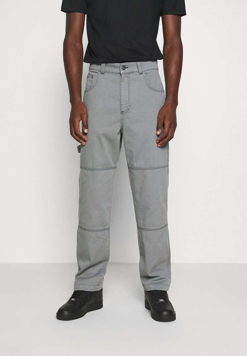 Kickers Classics - DRILL TROUSERS WITH TOPSTITCH - Pantaloni - monument