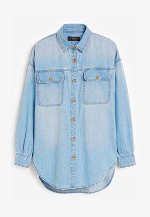 OVERSIZED DENIM SHIRT - Button-down blouse - bleached denim
