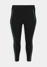 Nike Sportswear - Leggings - Trousers - black/poison green - 3