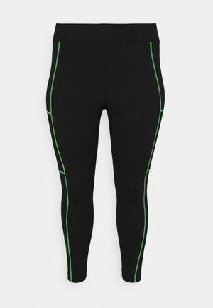 Leggings - black/poison green