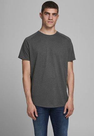 JJECURVED TEE O NECK - T-shirt basic - dark grey melange