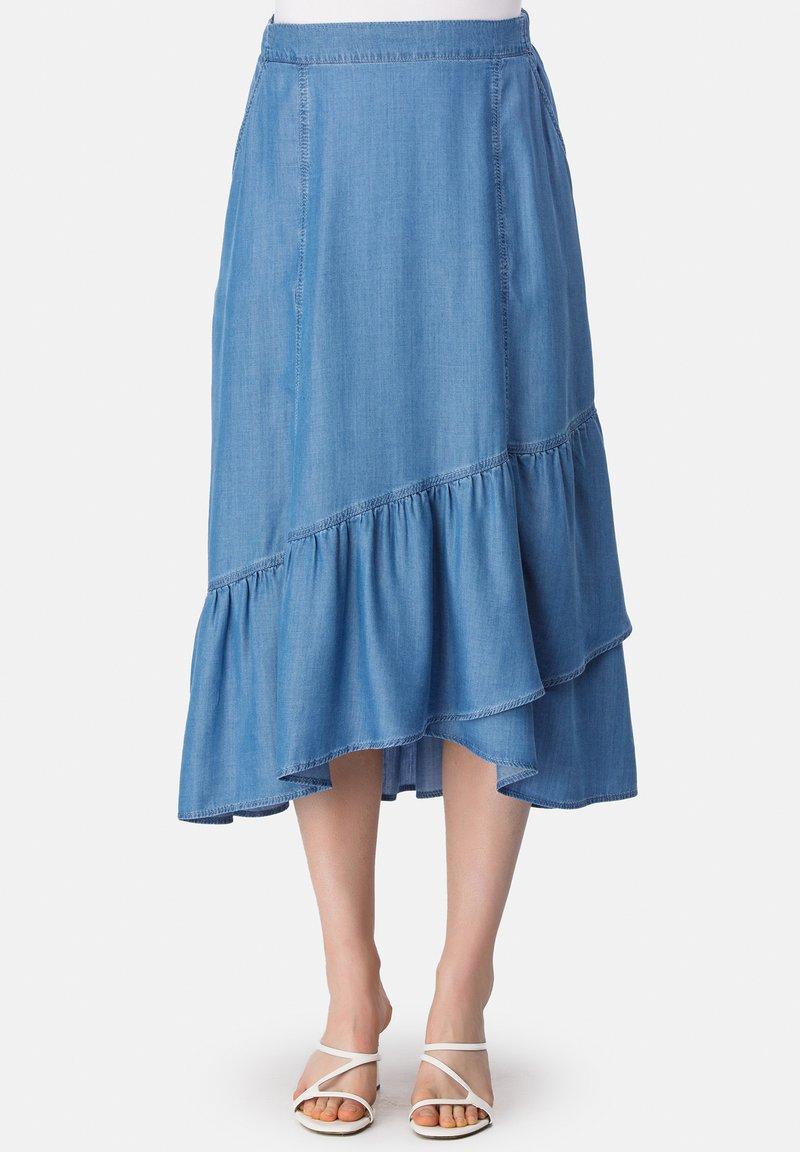 HELMIDGE - A-line skirt - blau