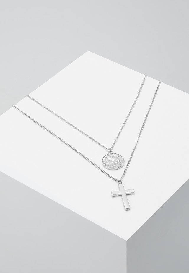 COIN & CROSS MULTI ROW 2 PACK  - Ketting - silver-coloured