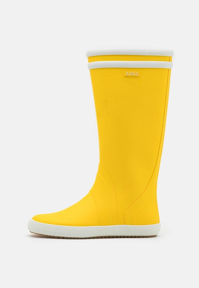 GOELAND UNISEX - Kumisaappaat - jaune/blanc