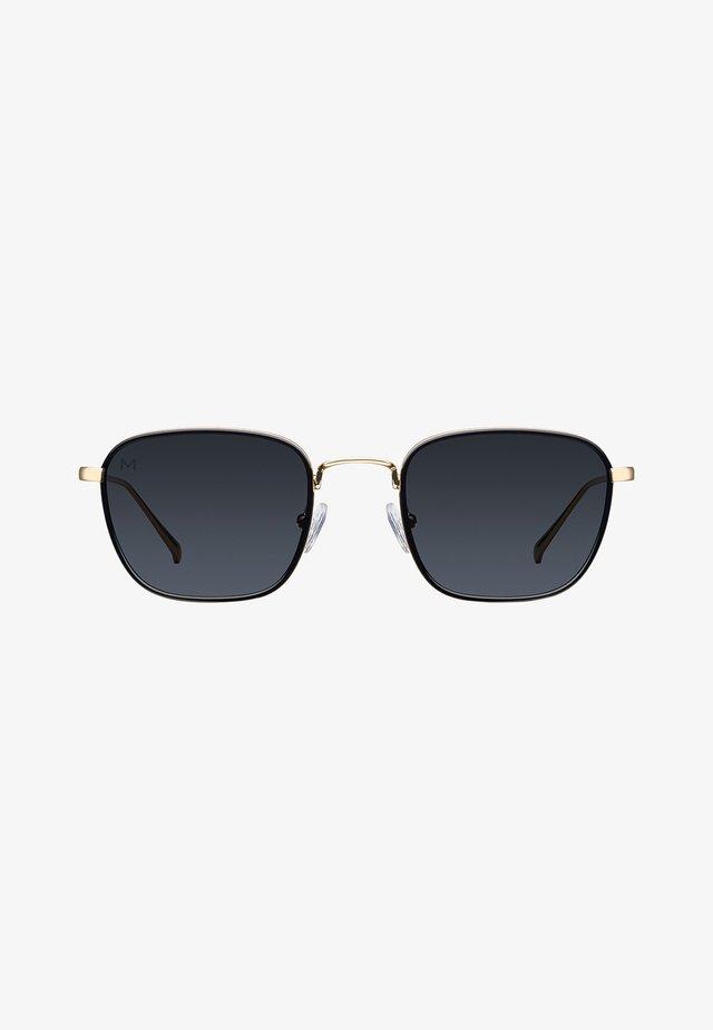 Zonnebril - gold black carbon
