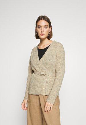 ALYSSA WRAP CARDIGAN - Cardigan - beige