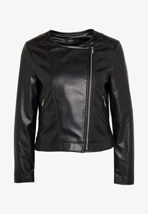 ONLDALY JACKET - Faux leather jacket - black