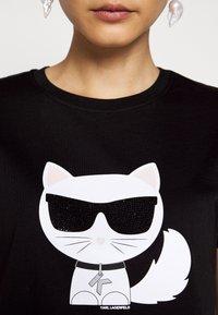 KARL LAGERFELD - IKONIK CHOUPETTE - T-shirt imprimé - black - 6