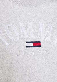 Tommy Jeans - CROP COLLEGE LOGO - Sweater - silver grey heater - 5