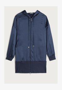 Intimissimi - KAPUZENJACKE AUS SEIDE UND LYOCELL - Pyjama top - blau - 383i - elegant blue - 3