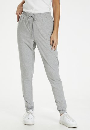 LINDA  - Trousers - light grey melange
