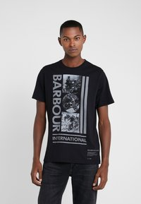 Barbour International - MONO TEE - Print T-shirt - black - 0