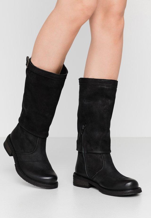 COOPER - Cowboystøvler - morat black