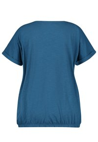 Samoon - Print T-shirt - blue coral gemustert - 1
