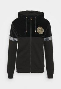 ARMANDO ZIPHOODIE - Zip-up sweatshirt - jet black