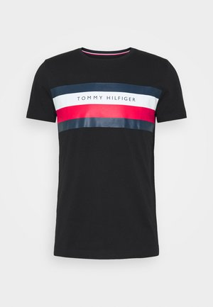 STRIPE TEE - Print T-shirt - black