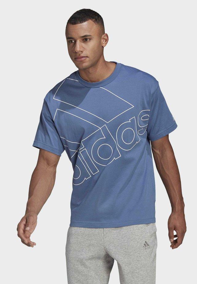 T-shirt imprimé - crew blue/white