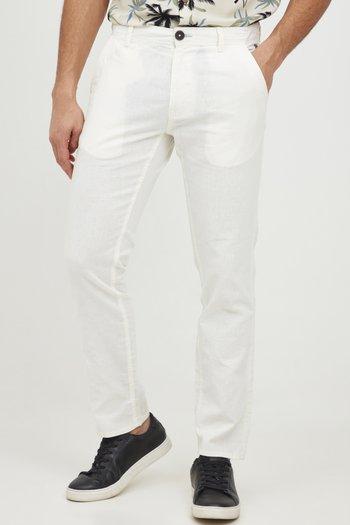PANTS - Pantaloni - egret