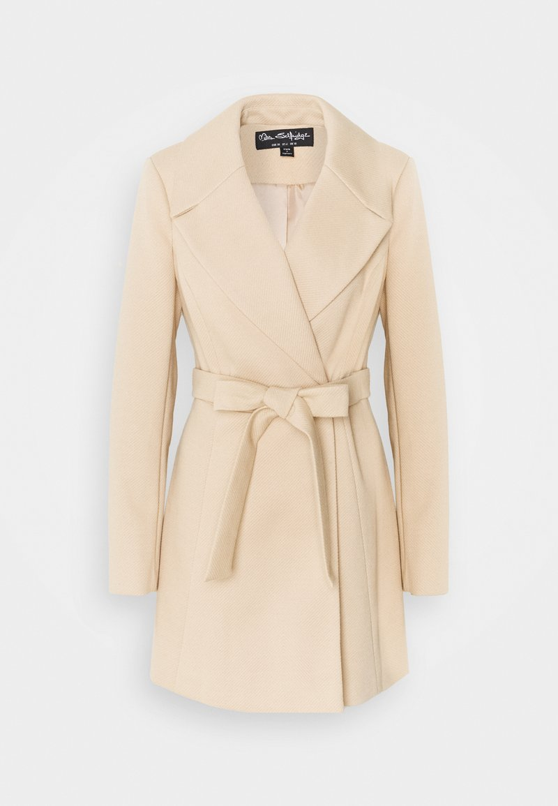 Miss Selfridge - SKATER BELTED ROBE - Classic coat - camel