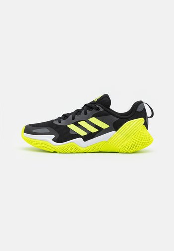 4UTURE RNR UNISEX - Neutral running shoes - core black/solar yellow/grey five