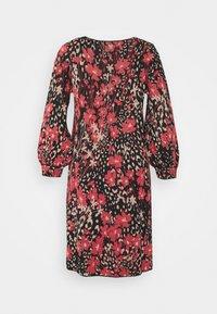 TWINSET - Jumper dress - nero/ciliegia - 7