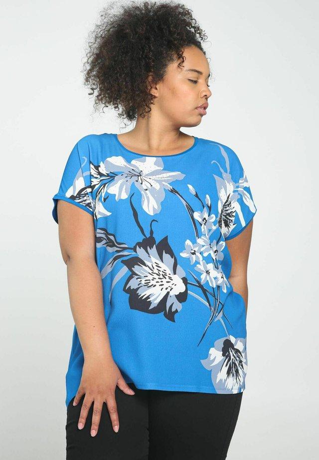 T-shirt print - blue bic
