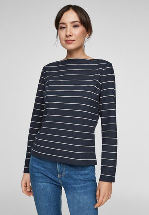 Long sleeved top - dark blue stripes