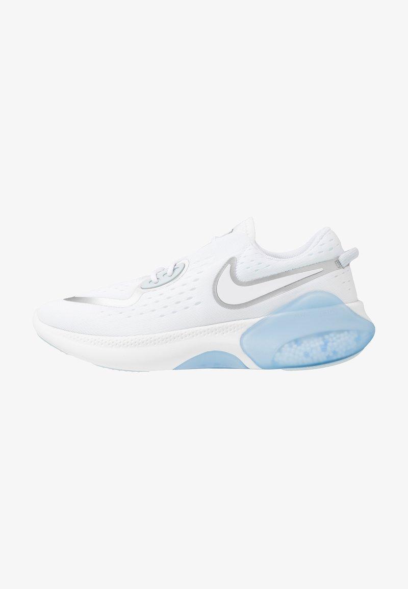 Nike Performance - JOYRIDE DUAL  - Neutral running shoes - white/metallic silver/aura/hydrogen blue