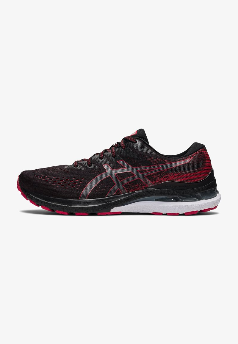 ASICS - GEL-KAYANO 28 - Stabilty running shoes - black/electric red